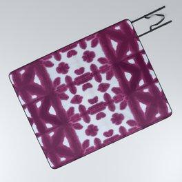Maroon Pima Shibori Picnic Blanket