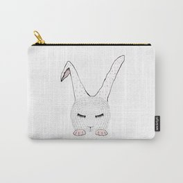 Sleeping Pink Bunnie Carry-All Pouch