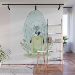 Travel by grasshopper Wall Mural