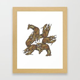 Pattern of crayfish Framed Art Print