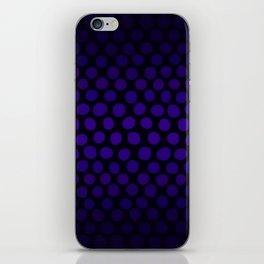 Purple Eggplant Ombre Dots iPhone Skin