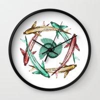 circle Wall Clocks featuring Circle by DebS Digs Photo Art