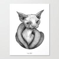 sphynx Canvas Prints featuring Sphynx by Tim Van Den Eynde