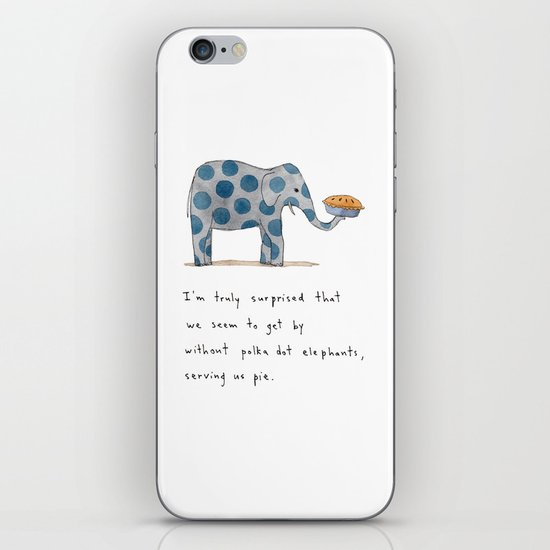 polka dot elephants serving us pie iPhone & iPod Skin