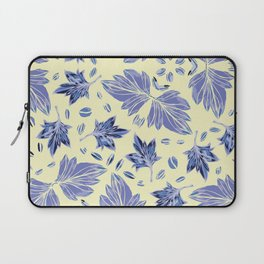 Autumn leaves in light yellow and blue Laptop Sleeve