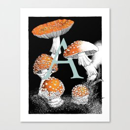 A is for Amanita muscaria Canvas Print