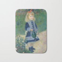 Auguste Renoir A Girl with a Watering Can 1876 Painting Bath Mat
