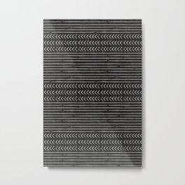 arrow stripes - cream on black Metal Print