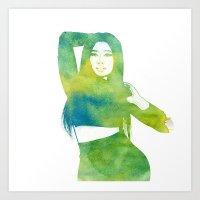nicki Art Prints featuring Nicki  by Mountain View Art