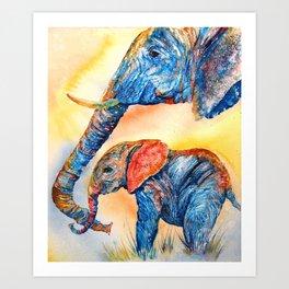 Psychedeliphants Art Print