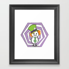 Mad Hatter Chicky Framed Art Print