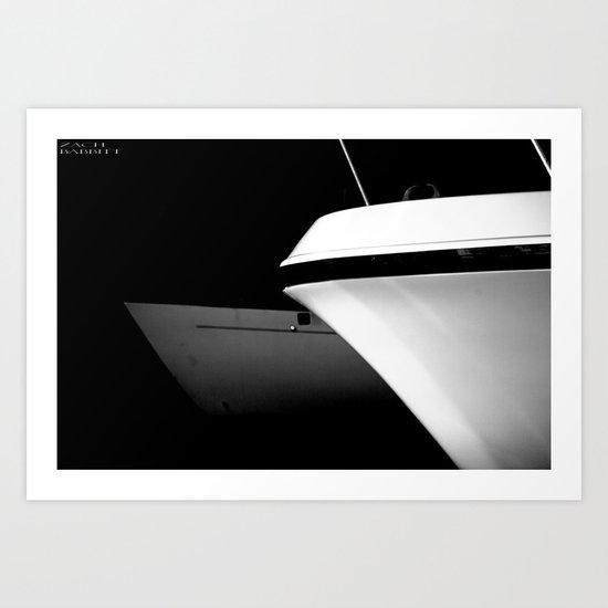 Black and White Boats Art Print