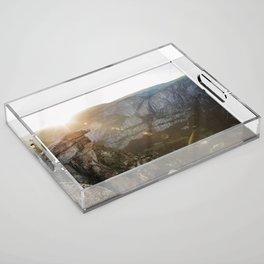 natural flares  Acrylic Tray