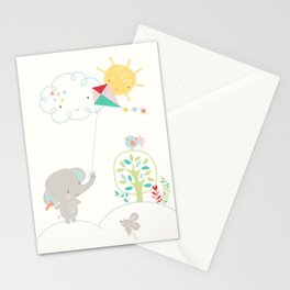 Elly + Milly Flying a Kite Stationery Cards