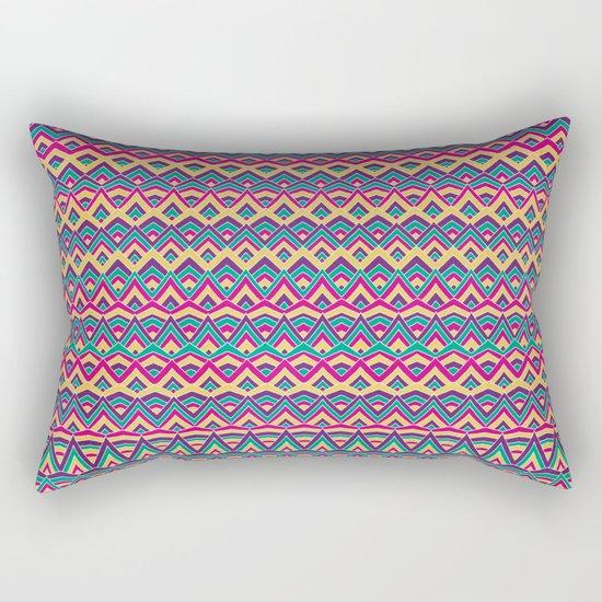Native Mountain Peaks Rectangular Pillow