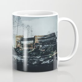 Poltery Site (Wood Storage Area) After Storm Victoria Möhne Forest 2 dark Coffee Mug