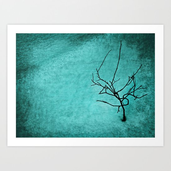 Landscape ~Winter abstract  Art Print