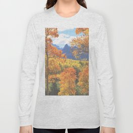 Aspen in the Uncompahgre Range, Colorado Long Sleeve T-shirt