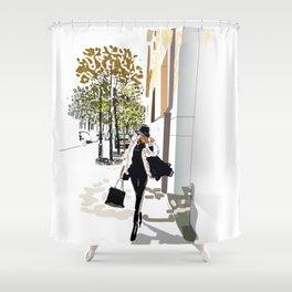 Autumn Girl Shower Curtain