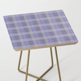 AFE Purple Plaid Pattern Side Table