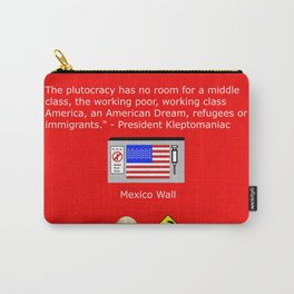The Plutocracy in America Carry-All Pouch