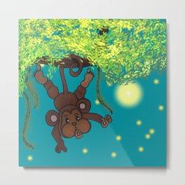 swinging little monkey Metal Print