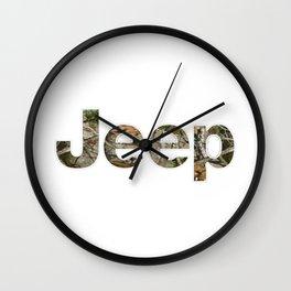 jeep camo Wall Clock