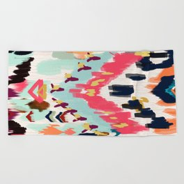 Bohemian Tribal Painting Beach Towel
