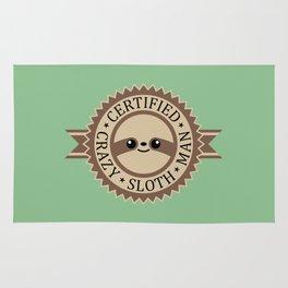 Certified Crazy Sloth Man Rug