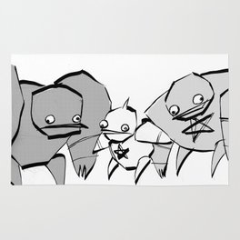 minima - slowbot 006 (clock) Rug