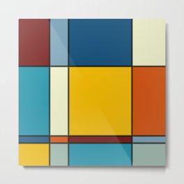 Minimalist Abstract Squares 3 Metal Print