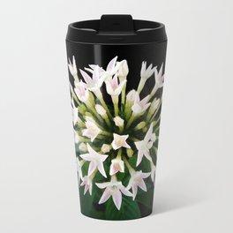 White Pentas Travel Mug