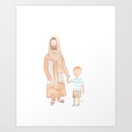 Jesus with Boy Art Print