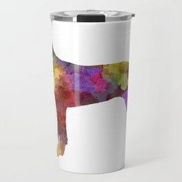 Wirehaired Slovakian Pointer in watercolor Travel Mug