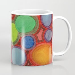 Abstract Moving Round Shapes Pattern Coffee Mug