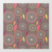 dreamcatcher Canvas Prints featuring Dreamcatcher by Rosie Simons