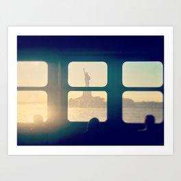 Window to Liberty Art Print