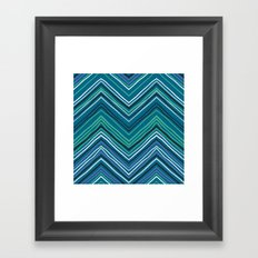 Chevron pattern with thin zigzag lines Framed Art Print
