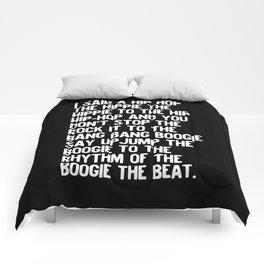 Rappers Delight Hip Hop in black Lyric Music Art Print Poster Comforters