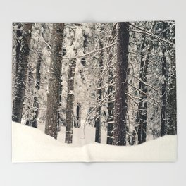 Winter Woods 1 Throw Blanket