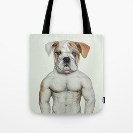 muscle dog Tote Bag