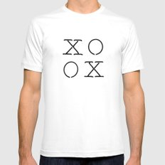 XOXO White Mens Fitted Tee MEDIUM