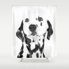 Black and White Dalmatian Shower Curtain