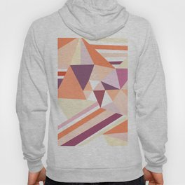 Modern abstract coral pink geometrical pattern Hoody