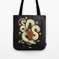 dbz Tote Bags featuring dbz by Louis Roskosch