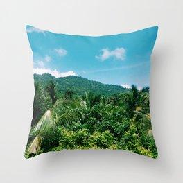 Sierra Nevada in colombian caribbean Throw Pillow