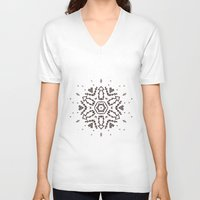snowflake V-neck T-shirts featuring Snowflake by itishazel