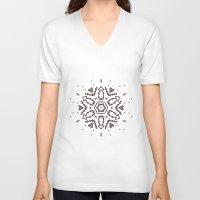 snowflake V-neck T-shirts featuring Snowflake by itishazel