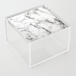 White Marble Texture Acrylic Box