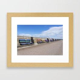 New Brighton benches 1 Framed Art Print